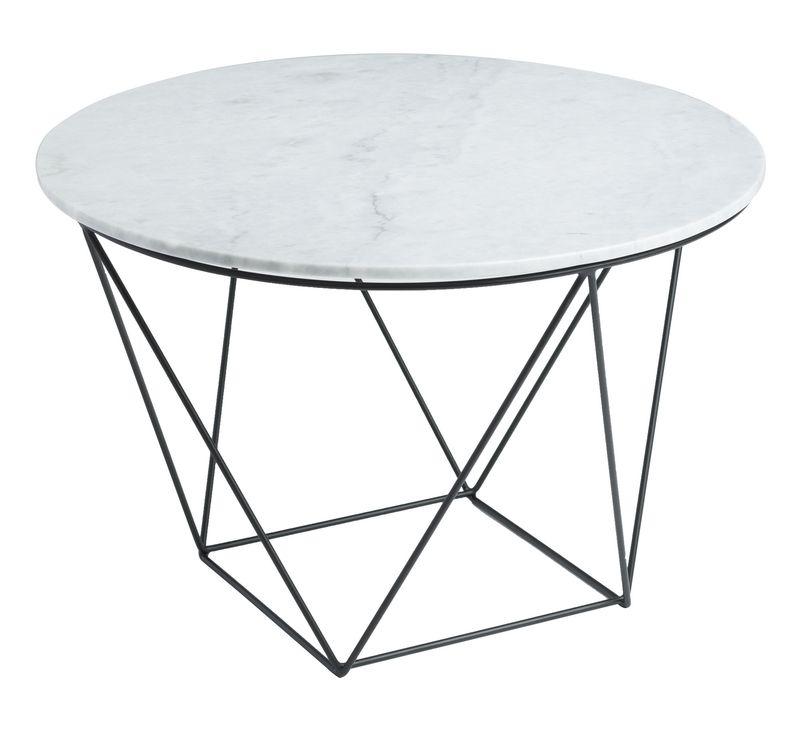 Magnificent Valencia Round End Table White Marble Black Matte Inzonedesignstudio Interior Chair Design Inzonedesignstudiocom
