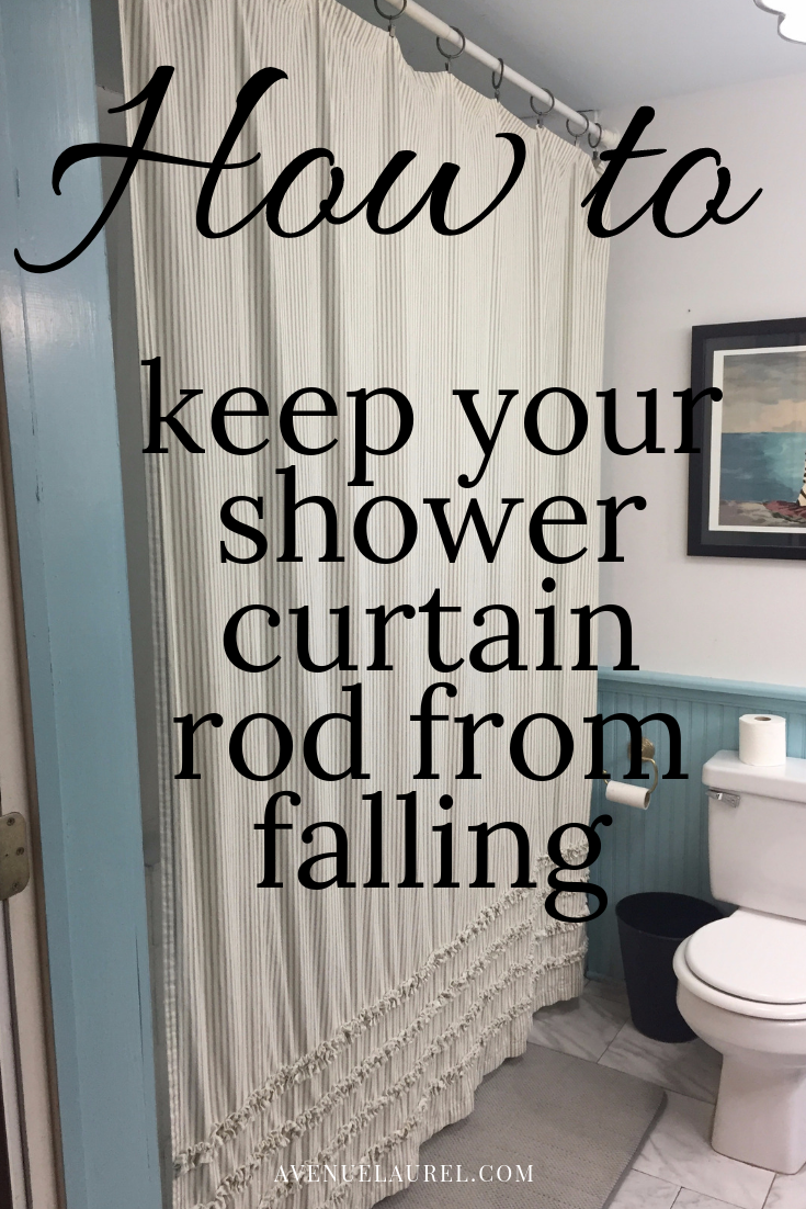 How To Fix A Falling Shower Curtain Rod With Images Shower