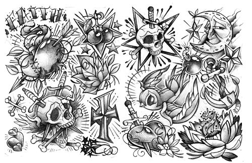 Over The Years The Older Style Flash Tattoos Have Seen A Gain In Popularity As More And More People H Temporary Tattoo Designs Tattoo Flash Art Tattoo Designs
