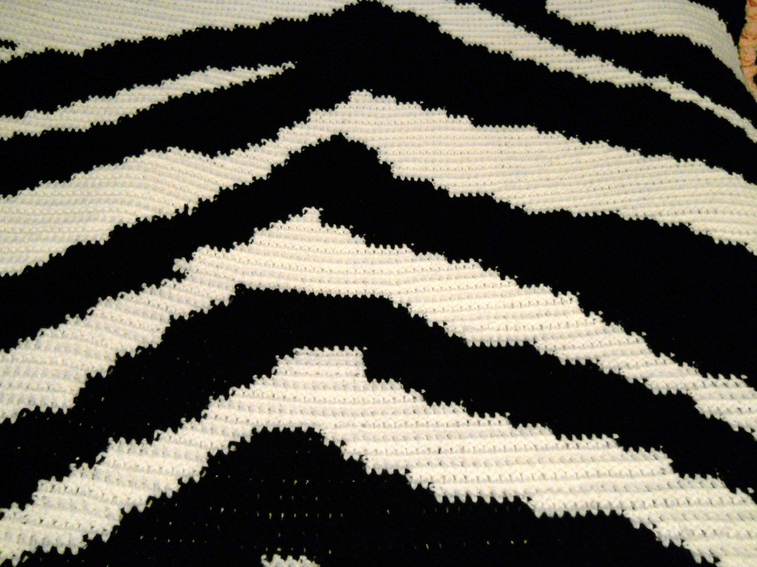 Crochet Zebra Print Blanket My Favorite Prints Pinterest