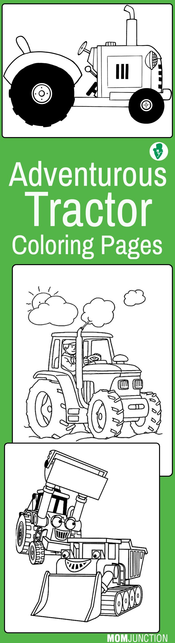 Top 25 Free Printable Tractor Coloring Pages Online | Tractor, Free ...
