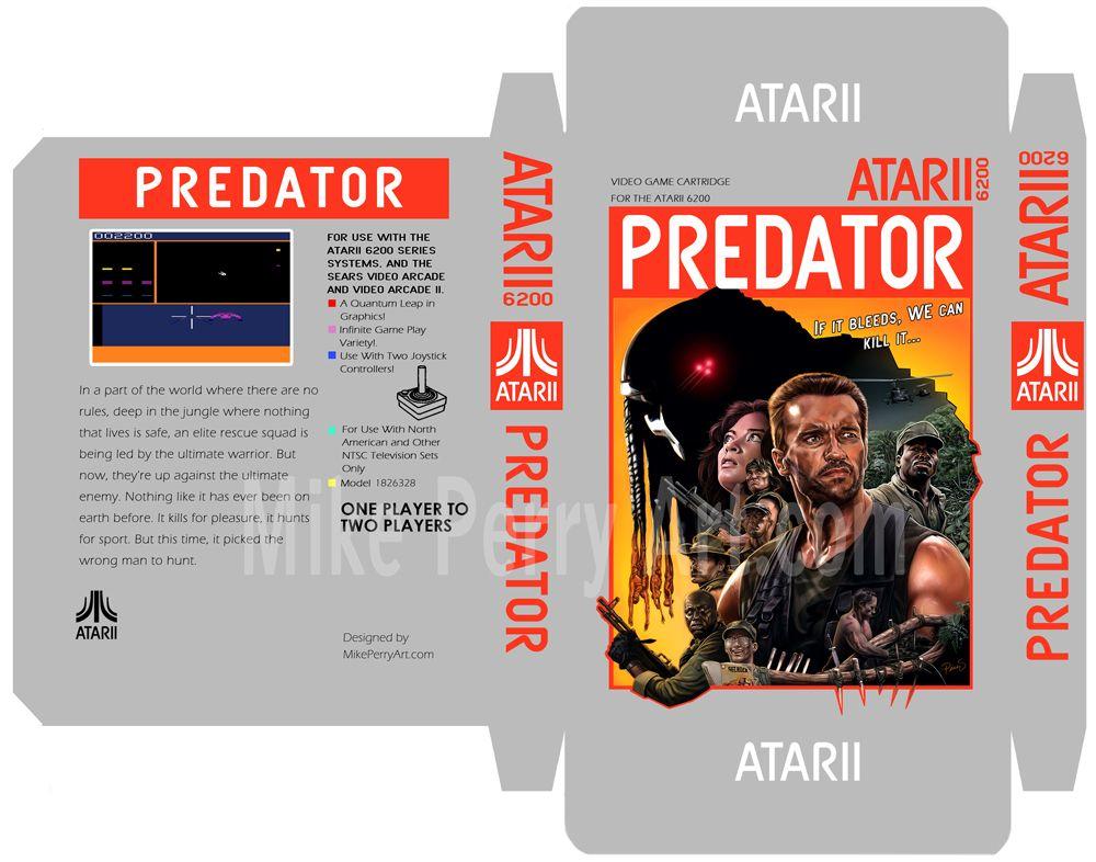 Predator Atari Box Template By Mikeperryart Deviantart Com On
