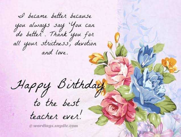 32 Hydecorner Birthday Wishes For Teacher Happy Birthday