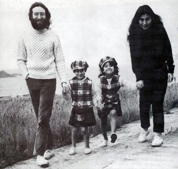 John Lennon And Yoko Ono With Their Children Julian Kyoko Cox