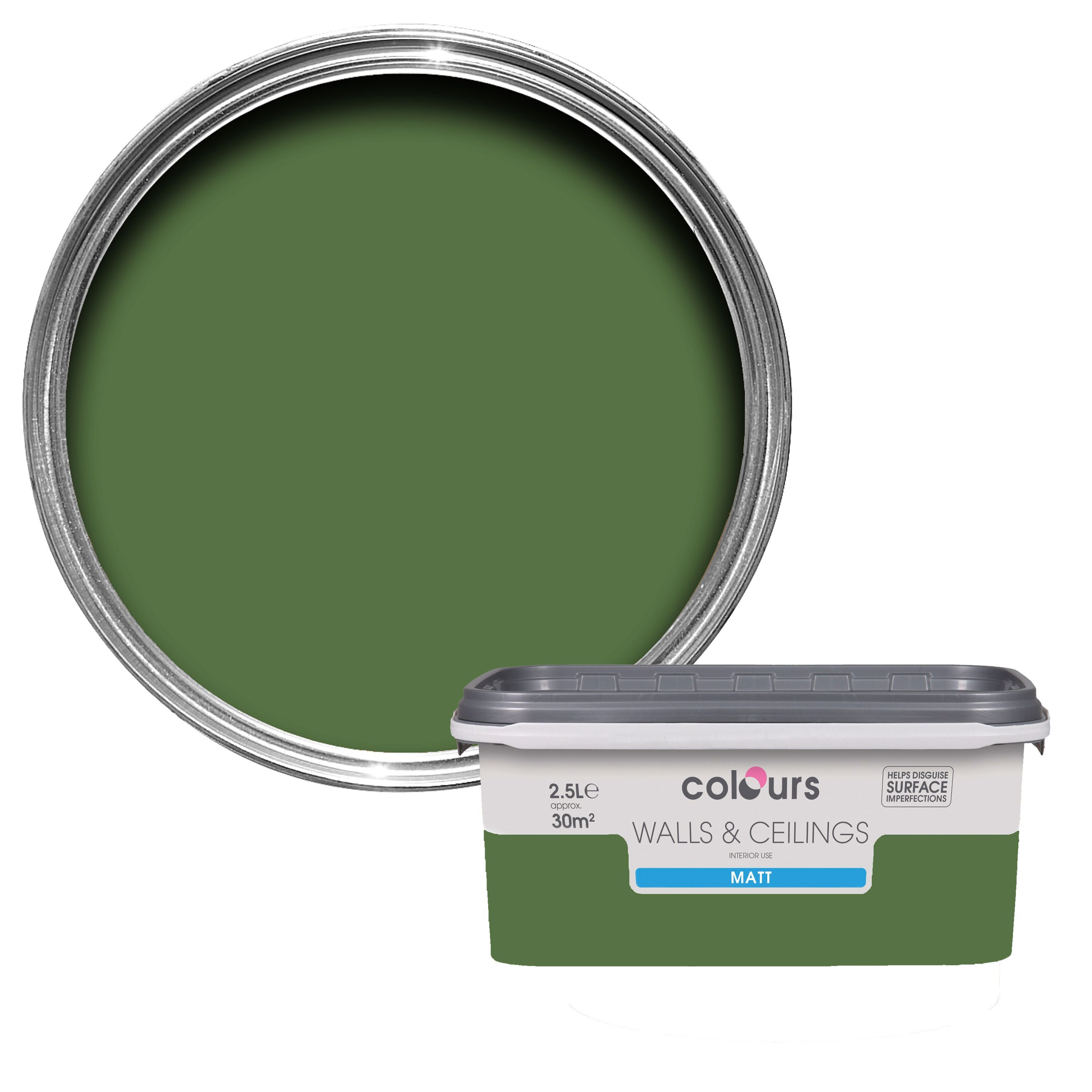 Colours Standard Sherwood Matt Emulsion Paint 2 5l B Q For All Your Home And Garden Supplies And Blue Bathroom Paint Blue Bathroom Kitchen And Bathroom Paint