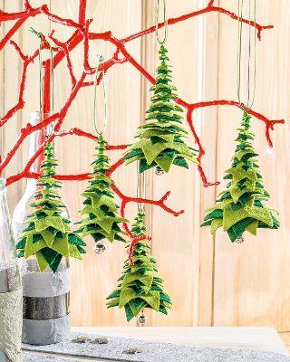 Tannenbaum aus Filz #sapinnoel2019