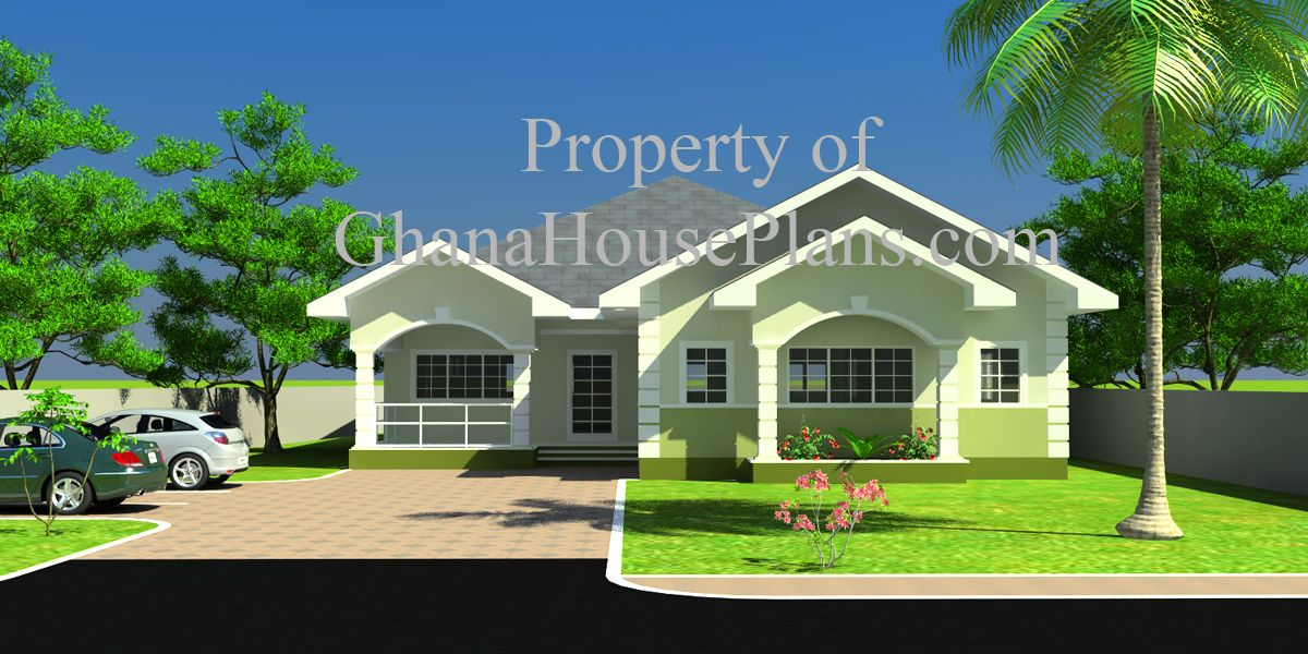 House Plans Ghana Fatak 4 Bedroom House Plan In Ghana 4 Bedroom House Plans Bedroom House Plans 4 Bedroom House