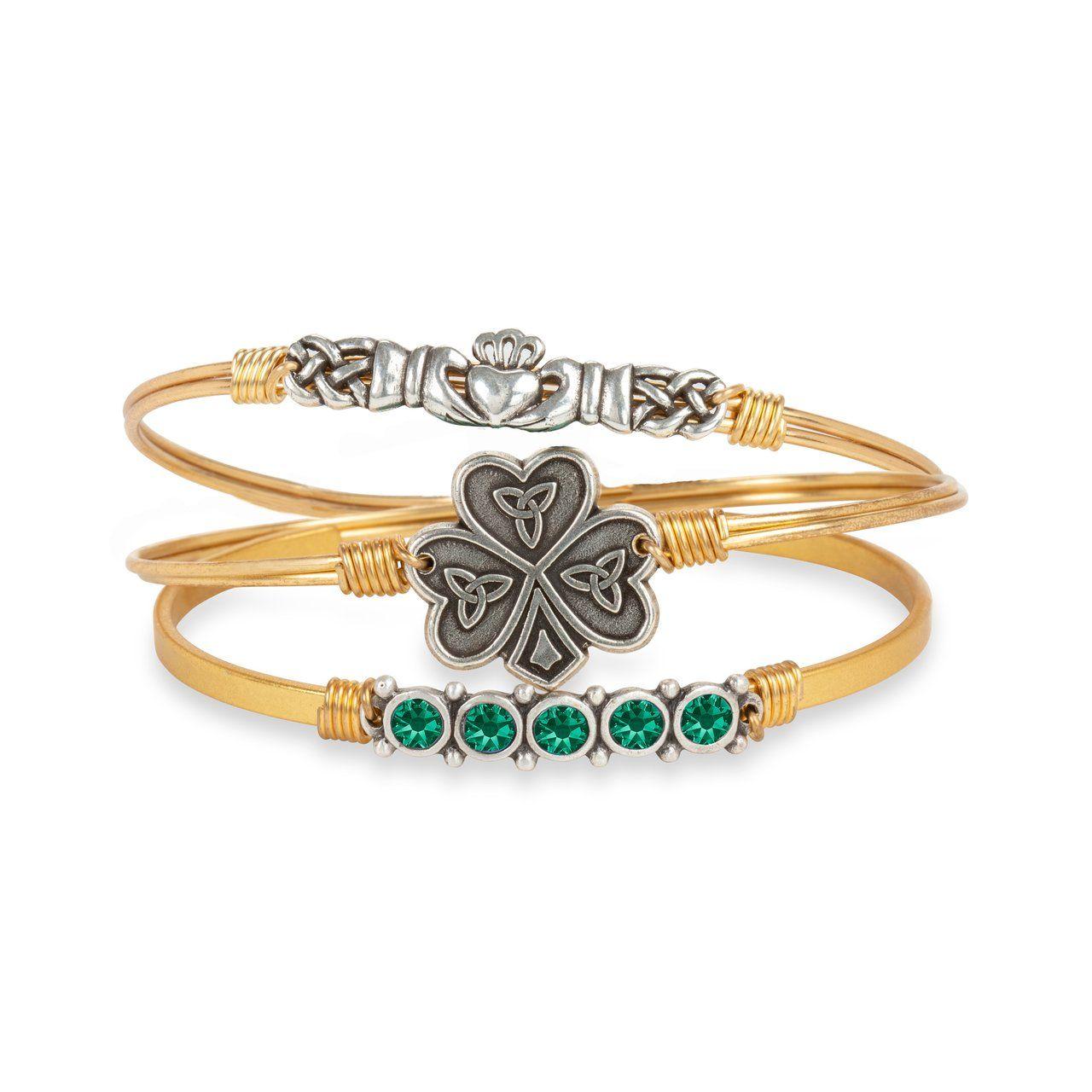 eb85e31c48499 Claddagh Bangle Bracelet - Regular / Brass Tone | Gifts | Bangle ...