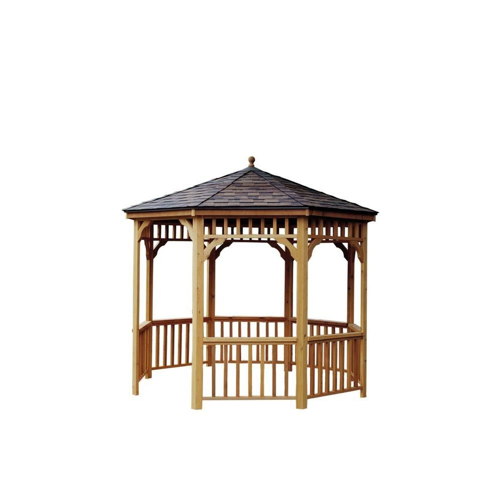 Handy Home Products 12 Ft San Marino Round Gazebo 19948 6 The Depot