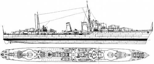 hms eskimo  tribal class destroyer   1939