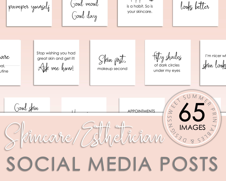 65 Skincare Esthetician Instagram Posts Skincare Quotes
