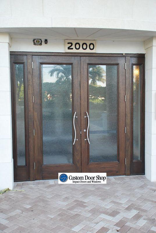 Contemporary And Clean Front Door Look Custom Double