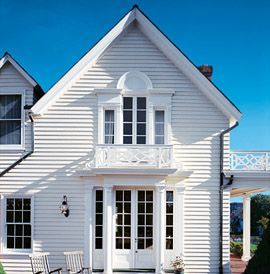 Houses With White Exterior | Lori Likes: Preparing For Your Exterior Paint  Job Part 35