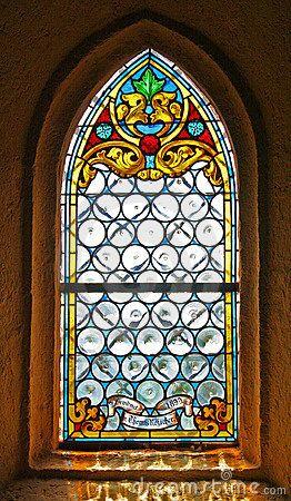 Ventana de cristal manchada de la iglesia