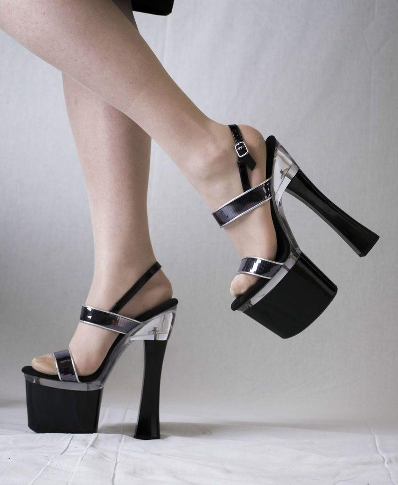 Sandale mit 19 cm Absatz
