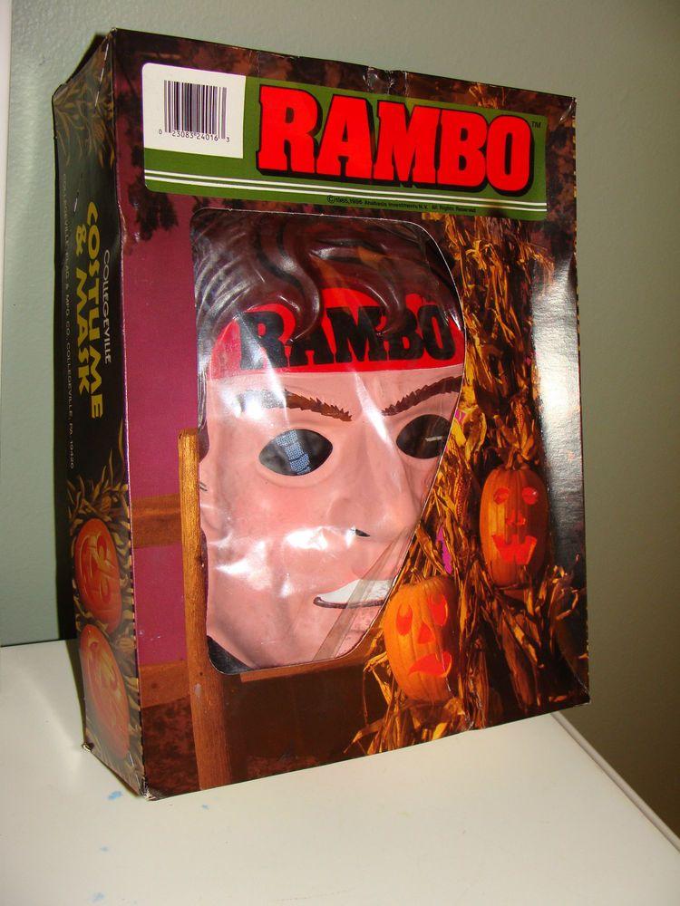 Captivating Vintage 1985 RAMBO, First Blood, Collegeville Halloween Costume U0026 Mask Box  Set #COLLEGEVILLE