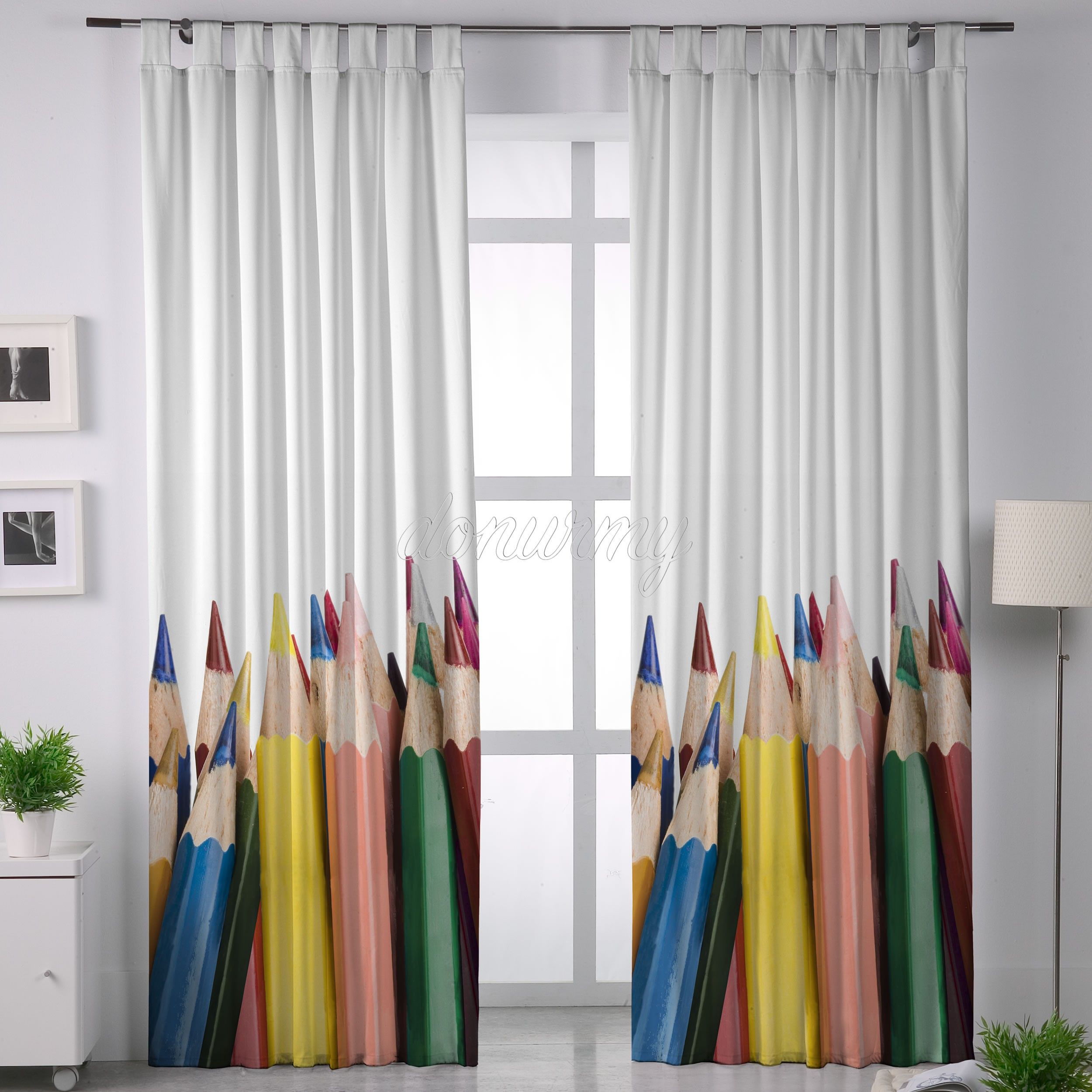 Unique Curtains For Art Room Cortina Pencils Belum Donurmy Es
