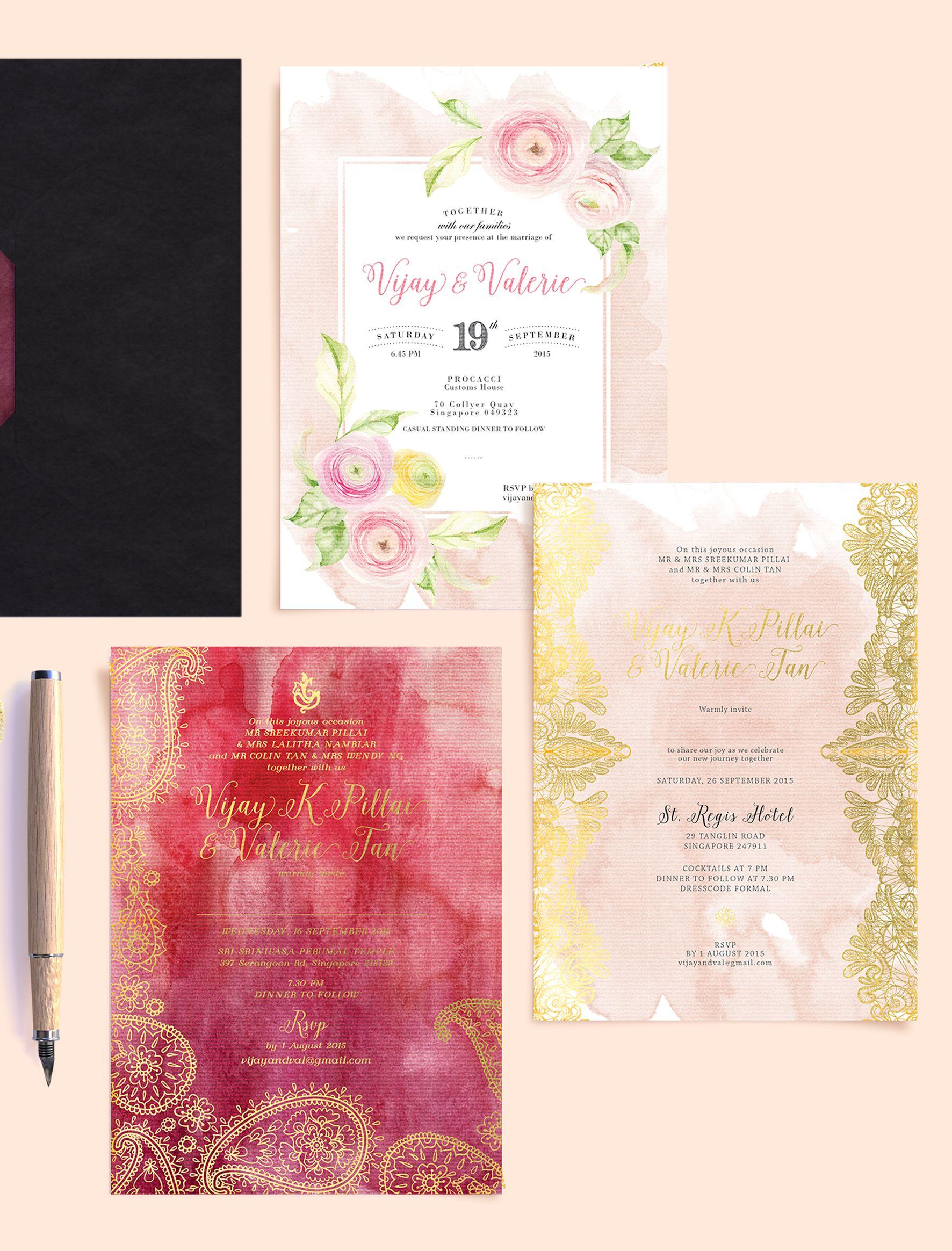 Vijay&Valerie3   Wedding Invitations   Pinterest   Elegant couple ...