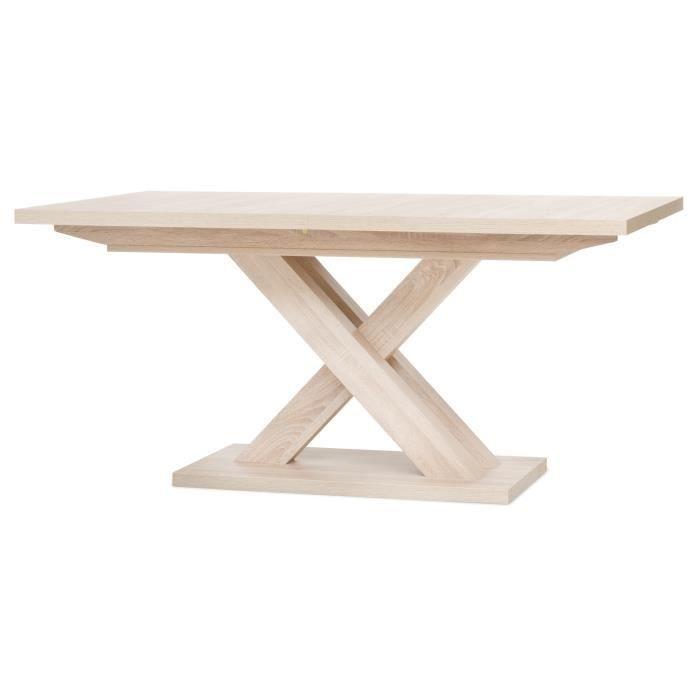 AVANT Inter Trade 2051 Table de salle à manger extensible  Bois Chêne Sonoma mélaminé style contemporain - Pieds central en croix - #décosalleàmanger