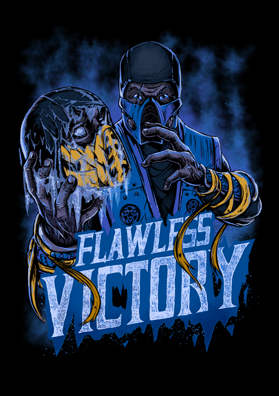 Finish Him Mortal Kombat Fans Get Your Hands On This Frosty Sub Zero T Shirt This Design Comes With Mortal Kombat Art Mortal Kombat Mortal Kombat Characters