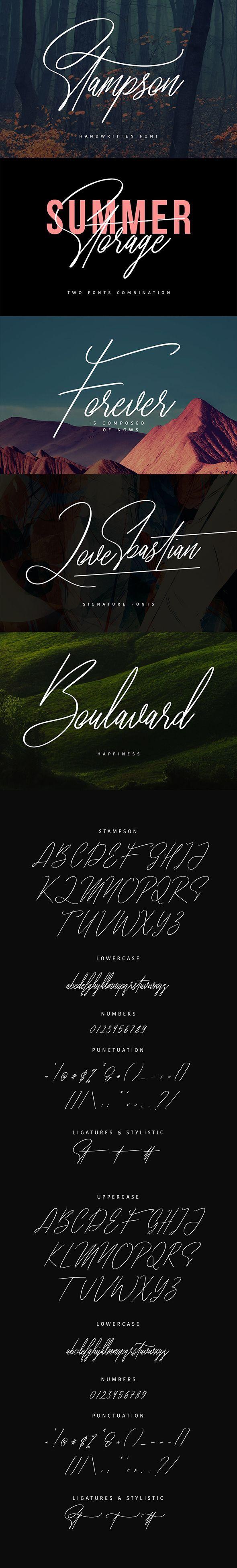 Stampson Signature Font Typeface, Signature fonts, Fancy