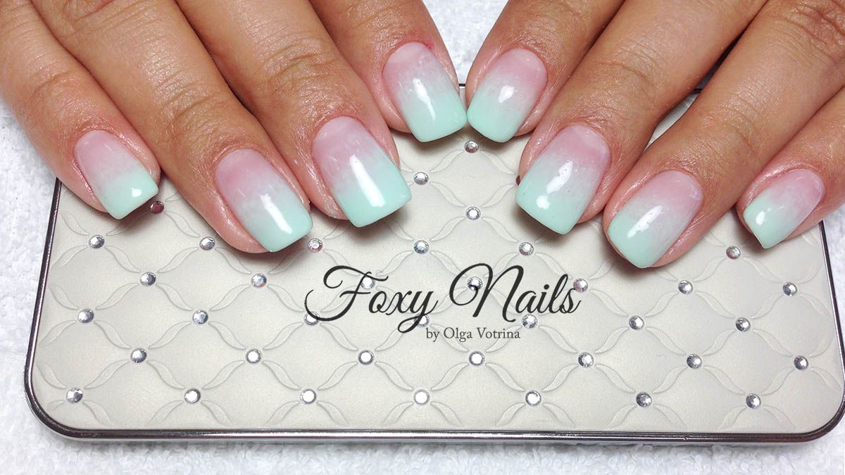 Ambre mint gel nails Foxy Nails by Olga Votrina | Nail Art Gallery ...