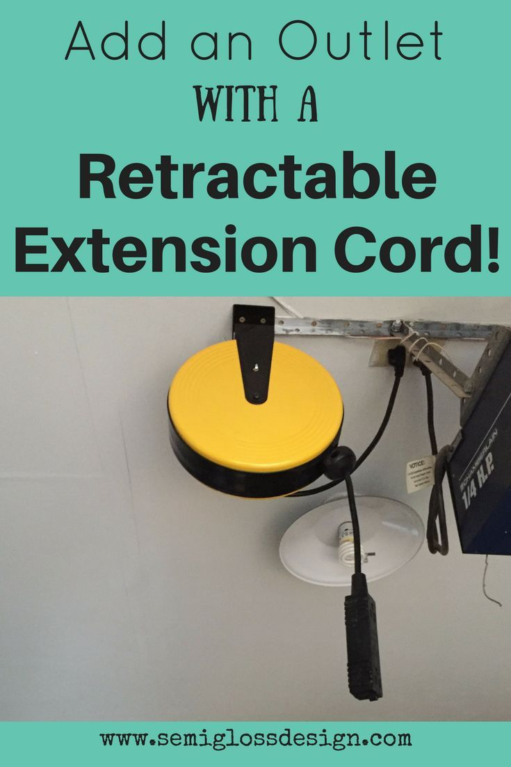 Add More Outlets With A Retractable Extension Cord For Your Garage