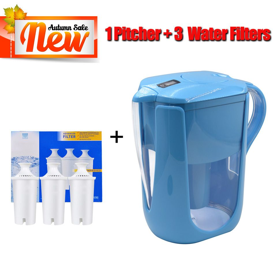 Household straight drink filtered tap water kettle filter pitcher