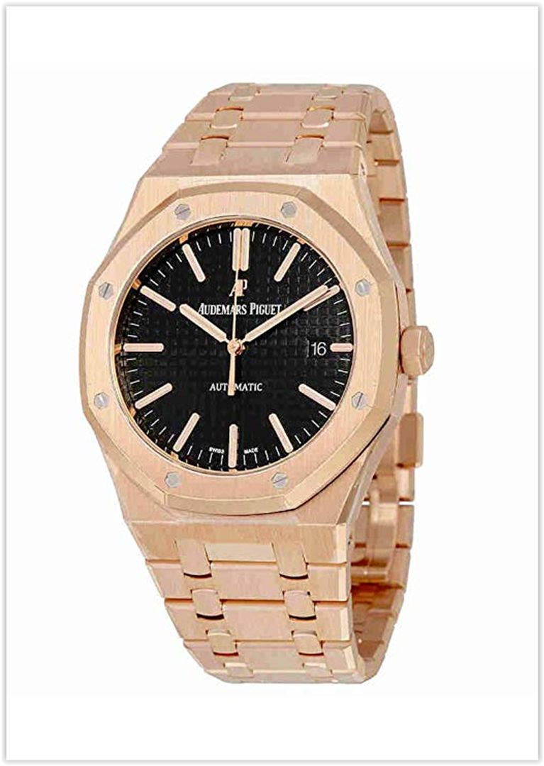 9de6812124e Audemars Piguet Royal Oak Automatic Black Dial 18kt Rose Gold Bracelet  Men s Watch price