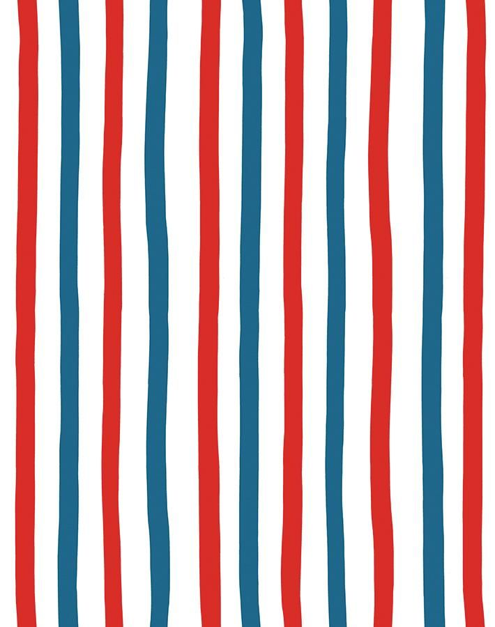 Stripes Wallpaper By Clare V Red Blue Striped Wallpaper Red Striped Wallpaper Iphone Background Pattern