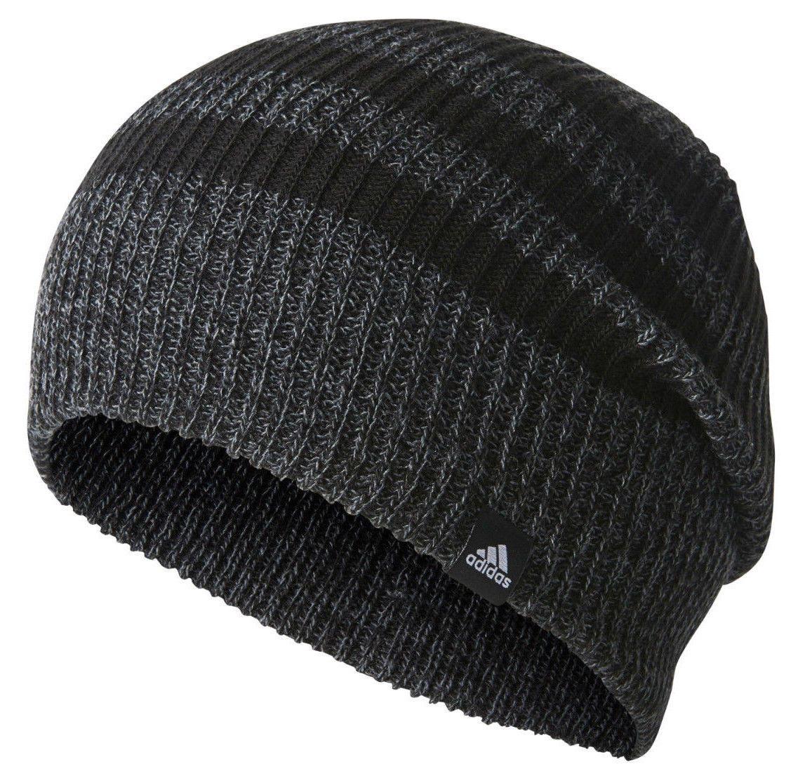 4ef0c4ab08d Adidas Men Beanie 3 Stripes Football Hat Black Training Headwear Br9927 2018