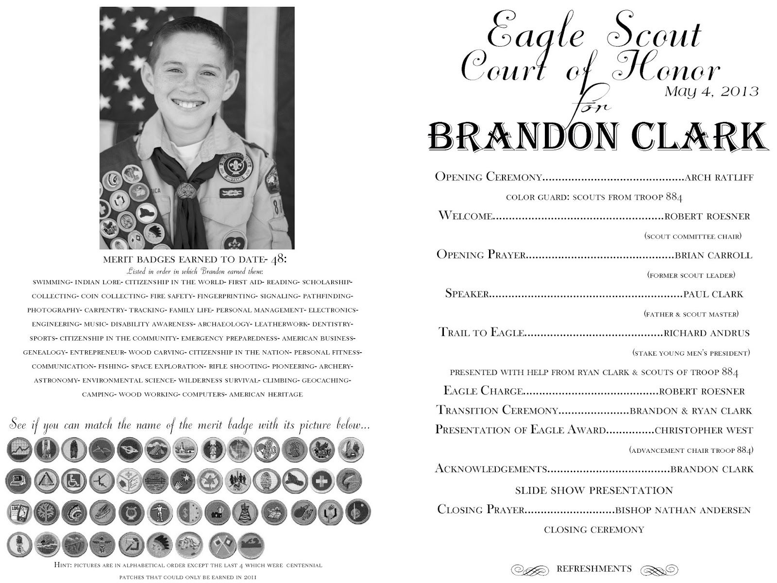 Eagle Court Of Honor The Program