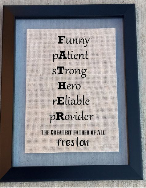 burlap father sign parent giftsfamily giftsgreat