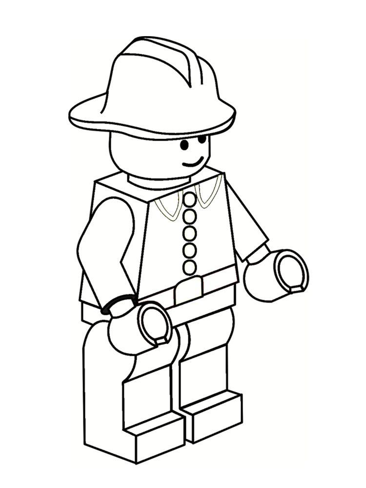 Coloriage lego lego pinterest coloriage lego lego et coloriage - Dessin pompier a imprimer ...