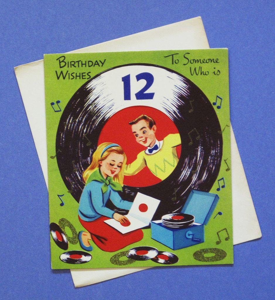Vintage Hallmark 12th Birthday Card Hi Fi Heaven Pinterest