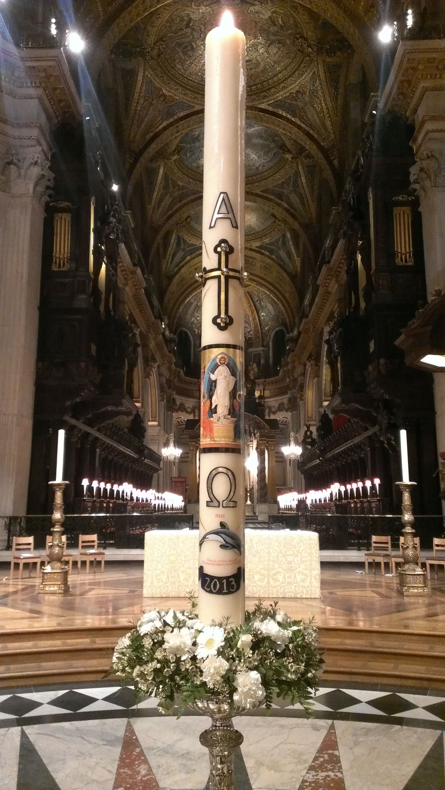 Paschal Candle Saint Paul's Cathedral, London 2013 by Regan
