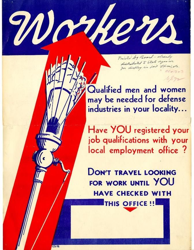 This 1941 poster was a reminder of the mobilization of