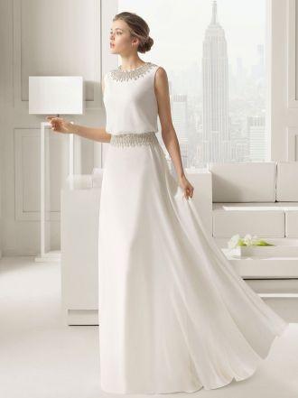 Vestidos de novia sencillos de la colección de Rosa Clará