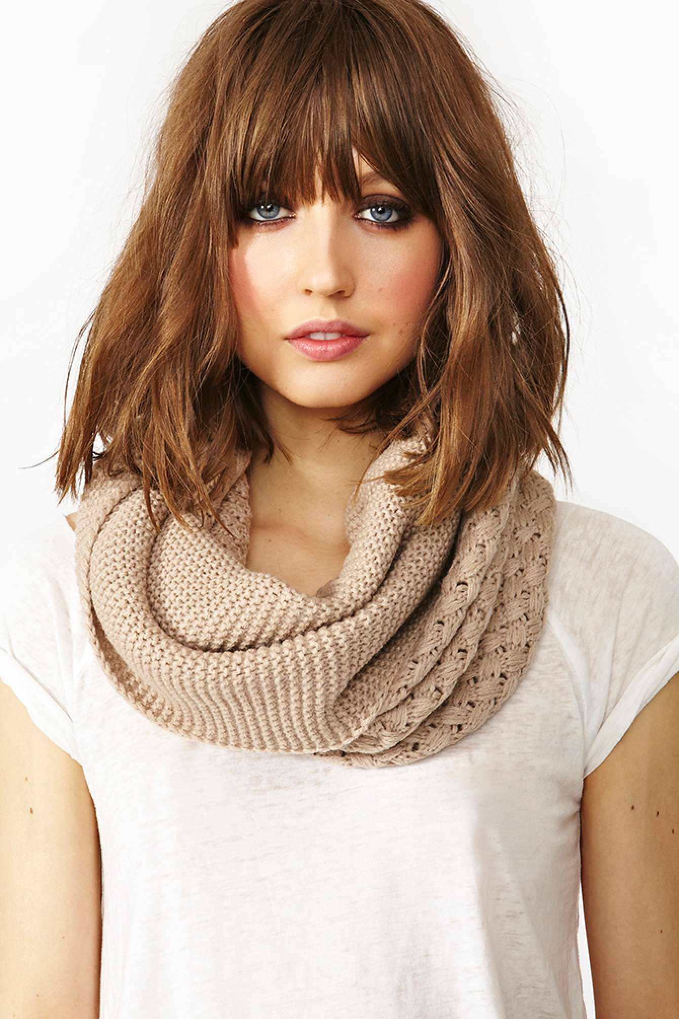 Woven infinity scarf taupe shop whatus new at nasty gal hair