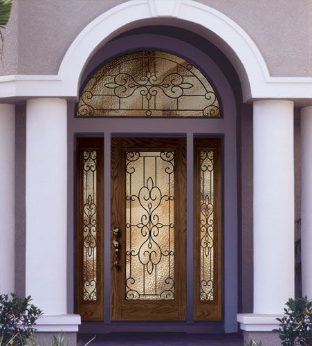 Attirant Https://flic.kr/p/8aYAaG | Feather River Door Fiberglass Entry Doors    Medium Oak Door U0026 Sidelites W/ A Half Round Transom | Feather River Door  Company Is ...