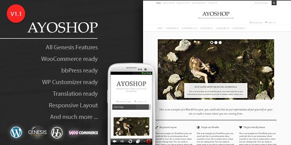 Free WordPress Theme: AyoShop - Responsive eCommerce Child Theme