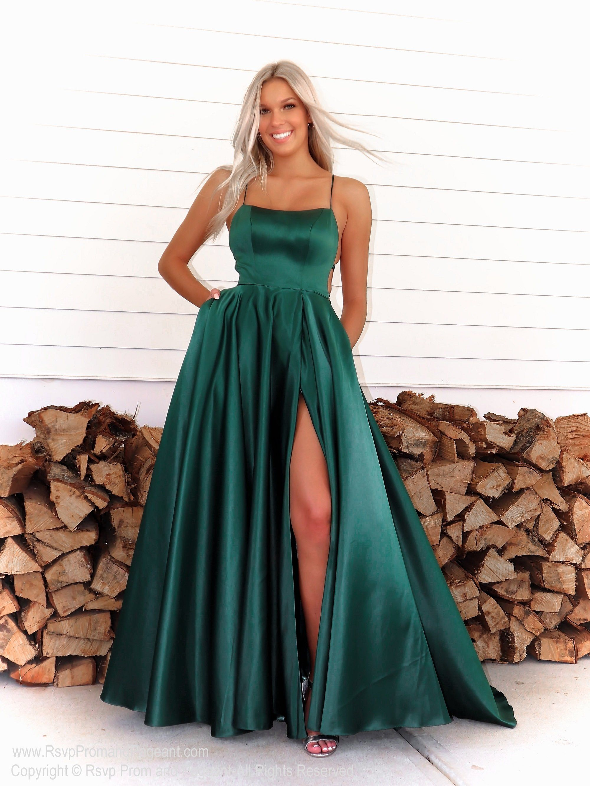 Emerald A Line Prom Dress With Strappy Open Back Trendy Prom Dresses Stunning Prom Dresses Cute Prom Dresses [ 2663 x 2000 Pixel ]