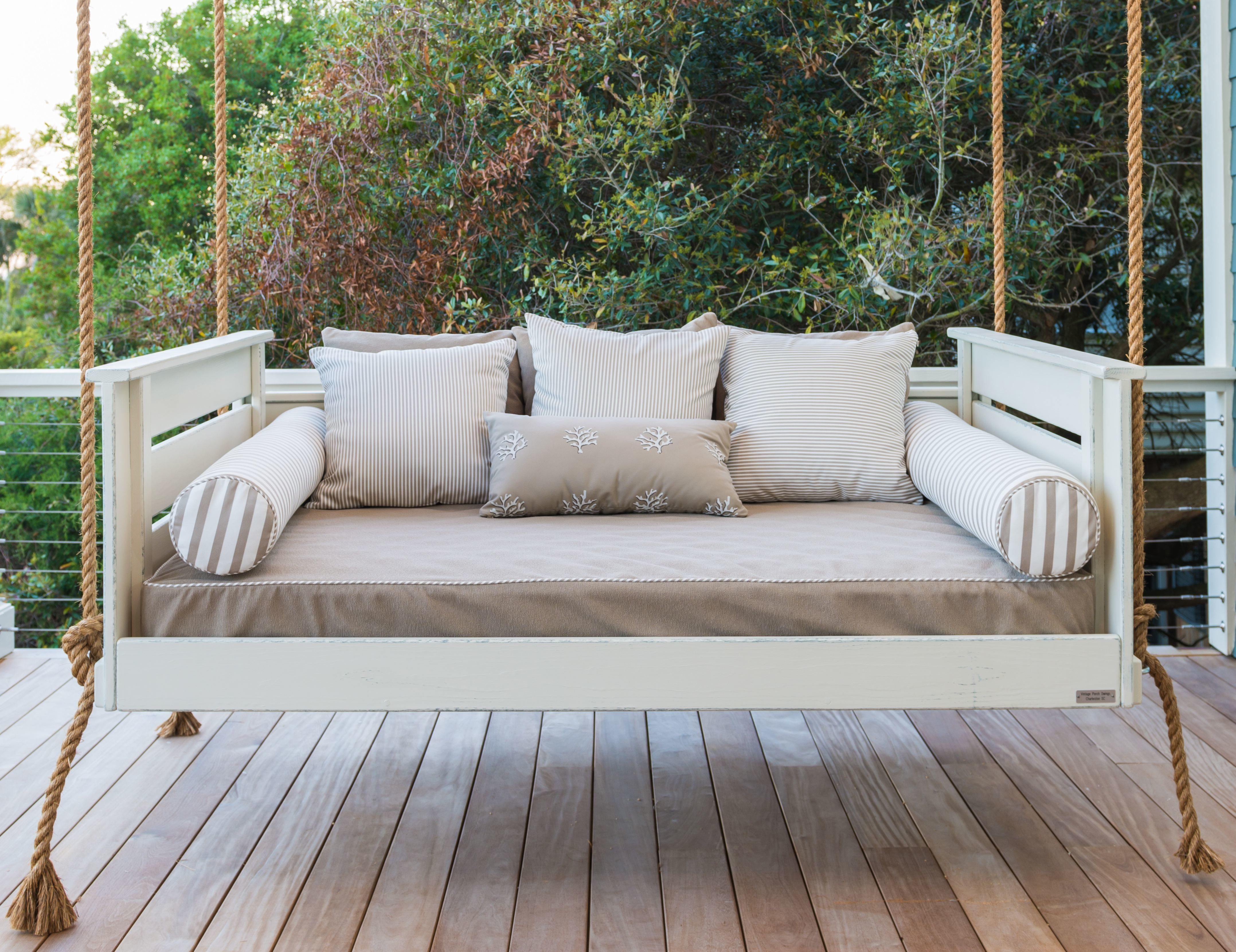 Porch Swing Inspiration For Free Standing Wooden Hanging Outdoor Loveseat