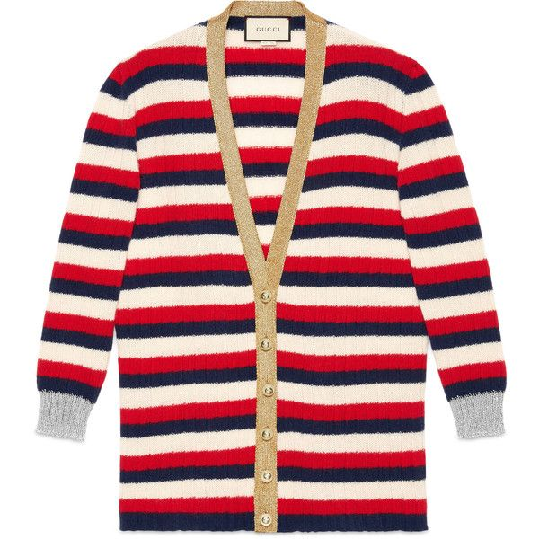 Gucci Oversize Striped Cashmere Merino Cardigan ($1,145) ❤ liked on Polyvore featuring tops, cardigans, cashmere, ready to wear, women, v-neck tops, colorful striped cardigan, v neck cardigan, gucci cardigan and cashmere v neck cardigan