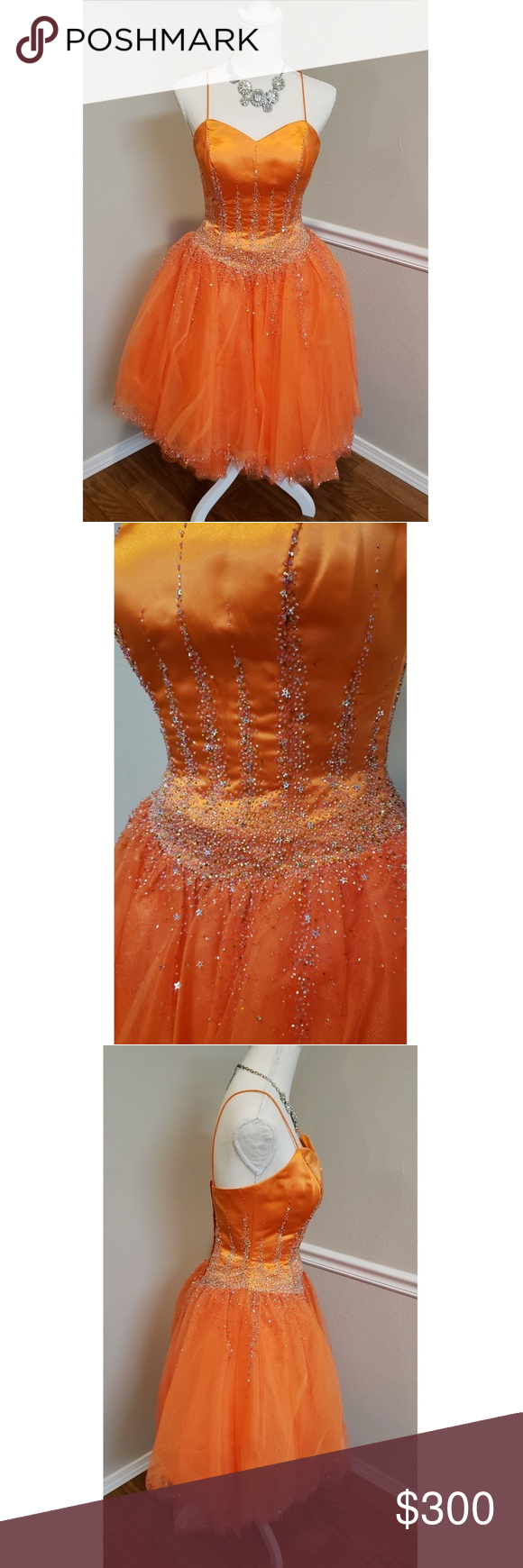Xcite Vintage Prom Dress Brand Xcite Color Orange Size 6 Measurements Flat Pit To Pit 16 Inches Prom Dresses Vintage Vintage Prom Vintage Dresses [ 1740 x 580 Pixel ]