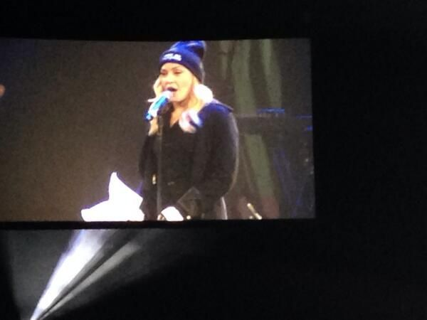 """madonnainfinity: """"Audience pictures: Madonna presents Pussy Riot at Amnesty International Concert at Barclays Center on February 5, 2014 in New York City. """""""
