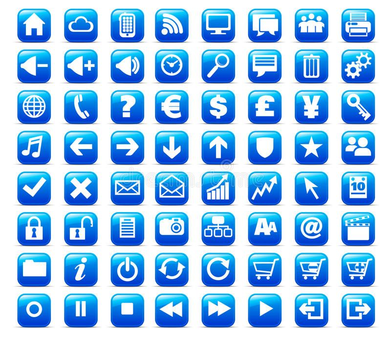 New Web and Media button Icon. 64 multimedia, web