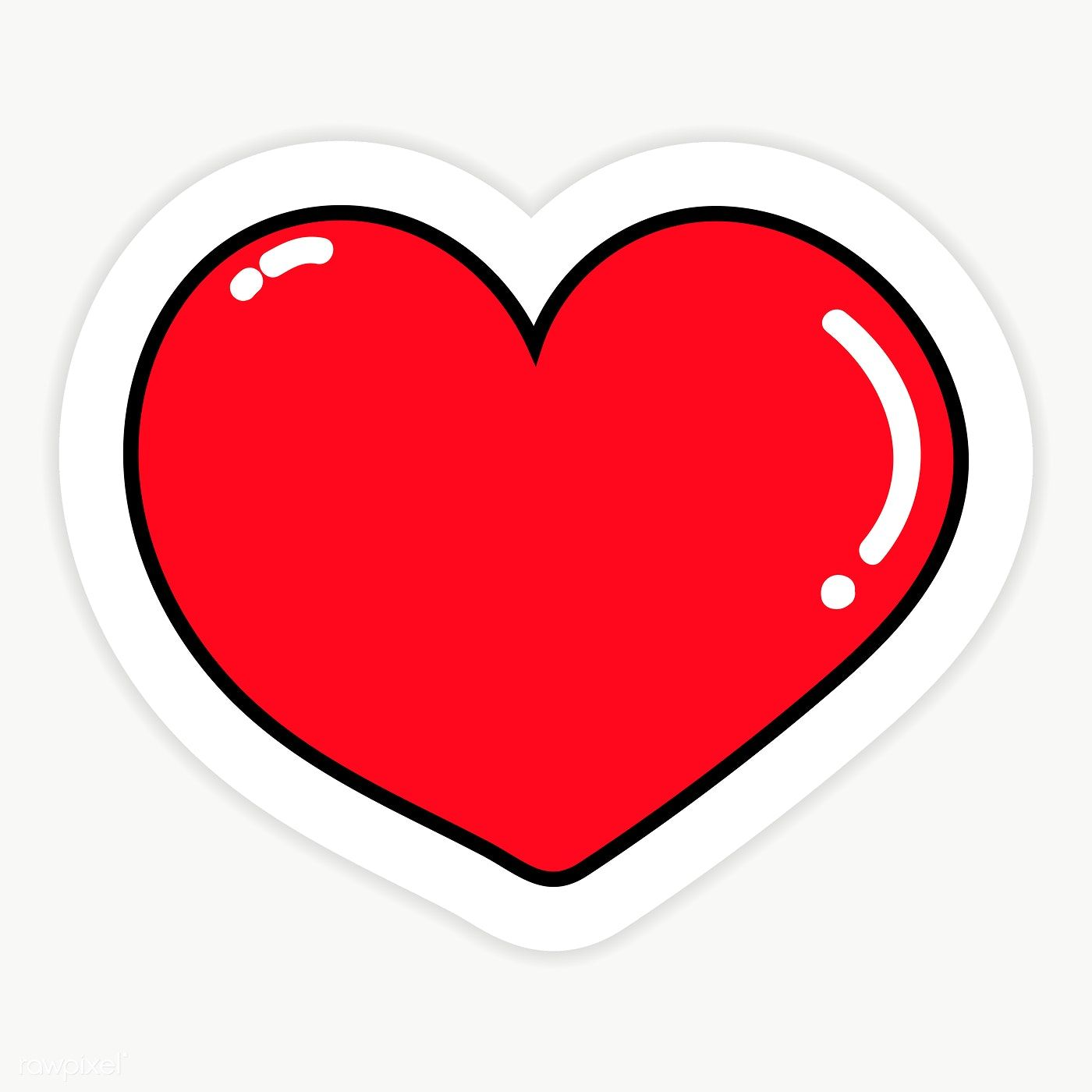 Shiny Red Heart Shaped Transparent Png Premium Image By Rawpixel Com Sasi Red Heart Stickers Pink Heart Background Print Stickers