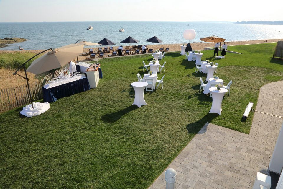 Beautiful outdoor reception set up at the madison beach