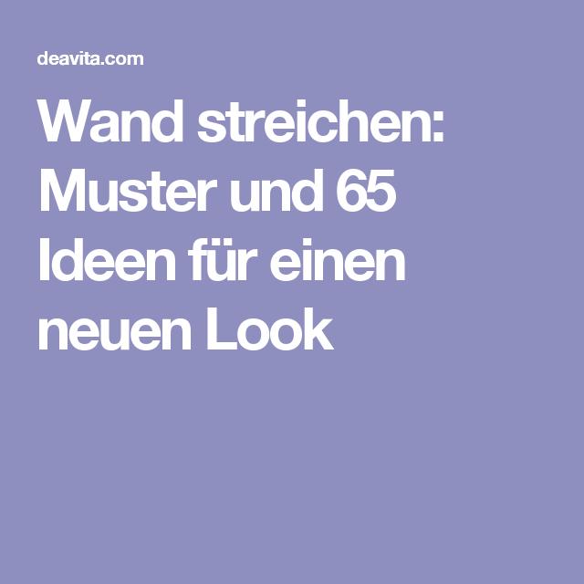 wand streichen muster und 65 ideen fr einen neuen look - Muster Fur Wand